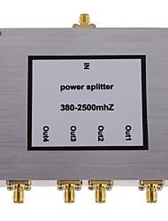 Недорогие -4-полосная бустер сма делитель мощности сигнала мобильного телефона разветвитель 380-2500mhz