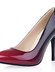 cheap -Women's Shoes Patent Leather Leatherette Spring Summer Stiletto Heel for Dress Party & Evening Black Yellow Red Almond