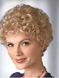 Fashion Synthetic Wigs Blonde Color Curly Style Synthetic Wigs