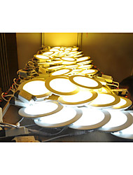 cheap -LED Panel Lights 2835 SMD 2835 500-550lm Warm White Cold White Natural White 2800-6500K Decorative AC 85-265V