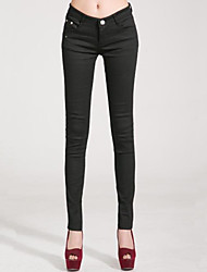 Women's Solid Candy Colors Slim Hin Thin Large Size Skinny Pants,Plus Size / Casual / Day More Colors Can Available