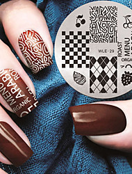 2016 Latest Version Fashion Pattern English Letters Nail Art Stamping Image Template Plates