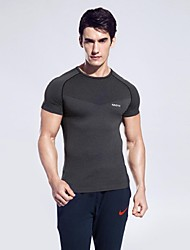 cheap -Men's Running T-Shirt Short Sleeve Quick Dry, Breathable, Softness T-shirt / Top for Yoga / Camping / Hiking / Climbing Fuchsia / Dark