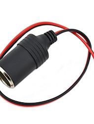 Jtron DIY 12~24V Car Cigarette Lighter Charger - (Black & Red)
