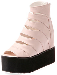 cheap -Women's Shoes Leatherette Summer Platform Creepers for Casual Dress Party & Evening White Black Yellow Blue Pink