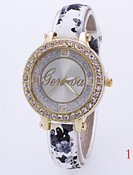 baratos -Mulheres Relógio de Moda / Simulado Diamante Relógio Venda imperdível Couro Banda Amuleto Cores Múltiplas