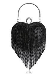 abordables -Femme Sacs Polyester Sac de soirée Strass / Gland pour Mariage / Soirée / Fête / Formel Noir / Argent / Arc-en-ciel