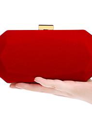 Недорогие -Жен. Мешки Бархат Вечерняя сумочка Пуговицы Черный / Красный / Лиловый