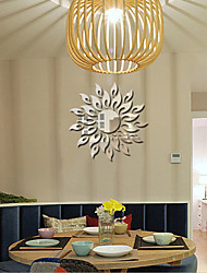 cheap -Sunflower Bedroom Living Room Sofa Decorative  Mirror Wall Stickers