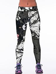 economico -Pantaloni da yoga Pantaloni Traspirante Naturale Elastico Abbigliamento sportivo Nero Per donna Yoga Esercizi di fitness Corse Corsa