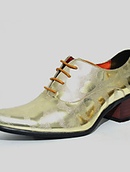 cheap -Men's Shoes Wedding / Office & Career / Party & Evening / Dress / Casual Customized Materials Oxfords Black / Gold