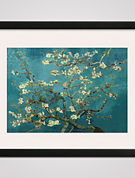 cheap -Framed Almond Blossom by Van Gogh  40x50cm Modern Canvas Print Art for Wall Decoration Ready To Hang