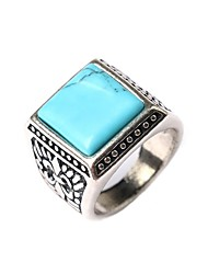 cheap -New Vintage Jewelry Women Men's Square-shaped Turquoise Elegant Statement Ring