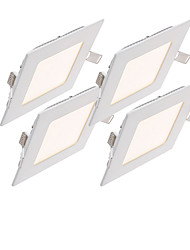 abordables -zdm® 4pcs 6w 30 leds empotrados / fácil instalación led luces del panel / led downlights blanco natural / blanco frío / blanco cálido ac85-265v home