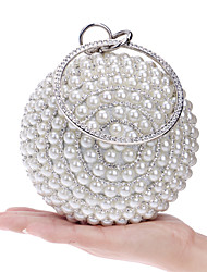 Women Bags Spring Summer Fall Winter All Seasons Polyester Evening Bag Imitation Pearl Crystal/ Rhinestone for Wedding Event/Party