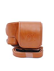 copertura della cassa del sacchetto dengpin® PU cuoio della macchina fotografica per Sony Ilce-6300 a6300 16-50 lenti (colori assortiti)