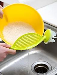 cheap -Kitchen Rice Bean Wash Colander Strainer Creative Tool Practical Plastic Sieve