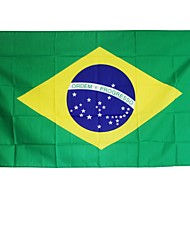 New 3X5 Feet Large Brazilian Flag Polyester The Brazil National Banner Home Decor(Without flagpole)