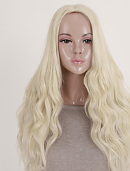 Women Synthetic Wig Capless Long Wavy Blonde Costume Wigs