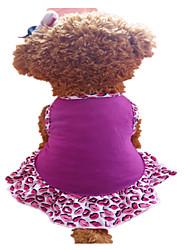 abordables -Chien Robe Vêtements pour Chien Lèvres Violet Coton Costume Pour les animaux domestiques Femme Mode