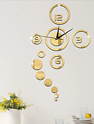 cheap -Acrylic Wall Stickers Home Decoration Wall Clock Watch Mirror Mirror living Room Wall Clock