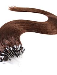 Недорогие -Накладка на микрокольце Расширения человеческих волос Прямой Черный Темно-коричневый Накладки из натуральных волос Натуральные волосы Евро-Азиатские волосы 1pack Мягкость Сияние Женский Жен. - # 27