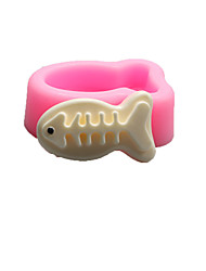 cheap -Fish bones Shaped  Soap Molds Mooncake Mould Fondant Cake Chocolate Silicone Mold, Decoration Tools Bakeware