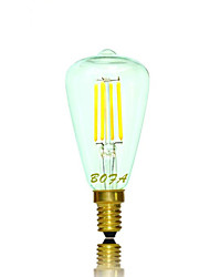 abordables -2200/2700 lm E14 E12 Ampoules Globe LED Tube 4 diodes électroluminescentes COB Intensité Réglable Décorative Blanc Chaud AC 110-130V AC
