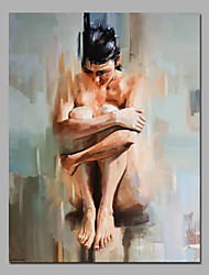 cheap -Hand-Painted Abstract People Vertical, European Style Modern Canvas Oil Painting Home Decoration One Panel