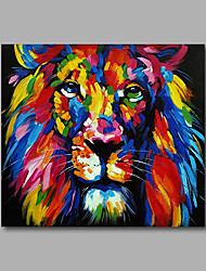 cheap -Hand-Painted Pop Art Square, Modern Canvas Oil Painting Home Decoration One Panel