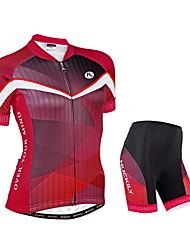 Nuckily Maillot de Ciclismo con Shorts Mujer Manga Corta Bicicleta Manguitos Camiseta/Maillot Shorts/Malla corta Sets de Prendas