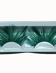 cheap -Hot Fashion Lady Green Eyelashes Sexy Feather False Eyelashes for Wedding Party