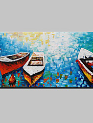 cheap -Lager Handmade Sea Boat Knife Oil Painting On Canvas Wall Paintings For Living Room Home Decor Whit Frame Ready To Hang