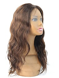 "16"" Color#2 Body Wave Brazilian Virgin Human Hair Glueless Lace Front Wig/Full Lace Wig"