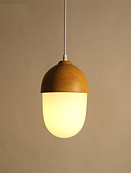 cheap -Northern Europe Style wood grain Glass Pendant Lights Restaurant,Cafe ,Game Room light Fixture