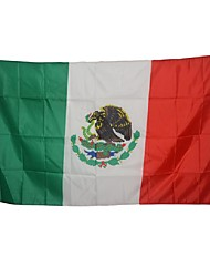 cheap -Large Mexican Flag Polyester Mexico National Banner Indoor Outdoor Home Decor(Without flagpole)