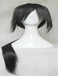 abordables -Pelucas sintéticas Recto Pelo sintético Negro Peluca Mujer Muy largo