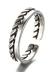Недорогие -Кольцо Регулируемое кольцо - Стерлинговое серебро, Серебристый Винтаж Бижутерия Серебряный Назначение Повседневные Регулируется