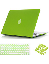 "cheap -Case for Macbook Air 13.3"" Solid Color ABS Material 3 in 1 Quicksand Matte Full Body Case with Keyboard Cover and Dust plug"