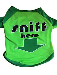 baratos -Cachorro Camiseta Roupas para Cães Carta e Número Verde Náilon Ocasiões Especiais Para animais de estimação Verão