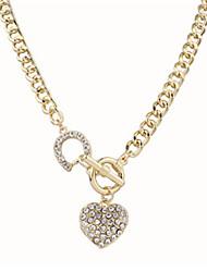 cheap -Women's Shape Statement Jewelry Cute Style Fashion European Pendant Necklace Pearl Necklace Statement Necklace Pearl Alloy Pendant