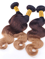 3 Pieces Wavy Human Hair Weaves Brazilian Texture 95-100 12-26 Human Hair Extensions