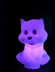 cheap -Creative Color-Changing The Little Cat Colorful LED Night Light