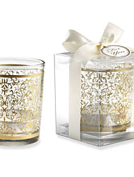 Golden Glass Tealight Holder Without Tealight Wedding Favors Beautiful
