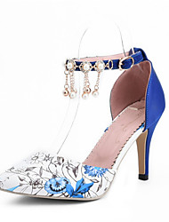 cheap -Women's Shoes Leatherette Summer Heels Stiletto Heel Pointed Toe Sparkling Glitter Red / Green / Blue / Wedding / Party & Evening / Dress