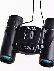 Недорогие -Bijia 20 X 22 mm Бинокль Водонепроницаемый Высокое разрешение Общий Полное многослойное покрытие BAK4 пластик Ластик Металл / Для охоты / Наблюдение за птицами / Ночное видение