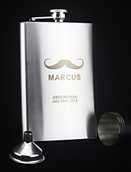 cheap -Personalized 6-pieces Stainless Steel Hip Flasks 9-oz  Flask Gift Set