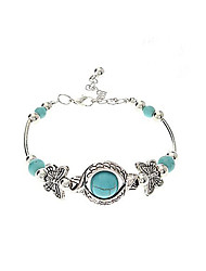 cheap -Vintage Bohemian Style Butterfly Turquoise Bracelet Jewelry Gifts