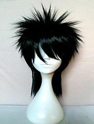 Mulher Perucas sintéticas Liso Preto preto peruca Peruca de Halloween Peruca de carnaval Peruca para Fantasia