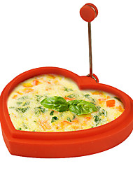 Silicone Heart-shaped Shape Egg Ring and Pancake Maker Egg Fried Frying Pancake Cooking Mould(Random Color)